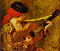 Young Spanish Woman with a Guitar, by Pierre-Auguste Renoir
