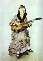 Woman with Guitar, by Vasily Surikov